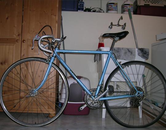Bike after I cleaned it.